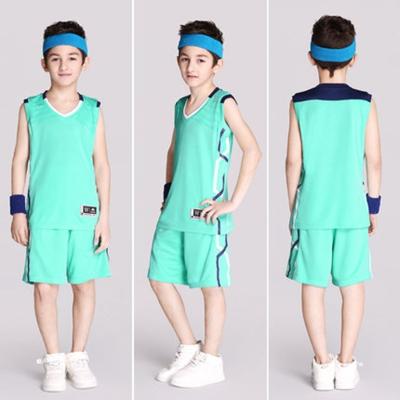 儿童篮球服套装男女学生定制透气两件套训练服队服diy球