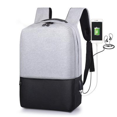 MIYSTON 2019新款男士雙肩包 雙肩背包 運動休閑包 男女通用書包 USB充電筆記本包
