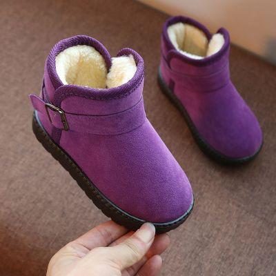 tyburn2020冬季新款兒童雪地靴寶寶加厚棉鞋女童短靴男加絨防水保暖童鞋