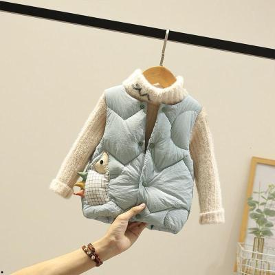 童装儿童棉马甲婴儿背心秋冬装外穿男女童羽绒棉马夹宝宝坎肩洋气
