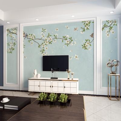 8D客廳新中式現代簡約電視背景墻5d立體3d墻紙立體影視墻壁紙壁畫 材質:(無縫)5D立體UV工藝/平米 墻紙+專用膠水
