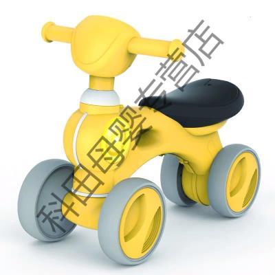 儿童四轮平衡车1-3岁2无脚踏滑行滑步车宝宝溜溜车小孩扭扭车玩具应学乐 【升级四轮】音乐灯光滑行学步车(黄色)