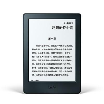 Kindle 亚马逊电子书阅读器 全新青春版4GB 黑色 入门版升级款 新增阅读灯 黑白两色 6英寸看漫画 生词注解