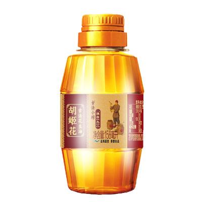 胡姬花古法小榨花生油158ml 精选花生压榨食用油 尝香装