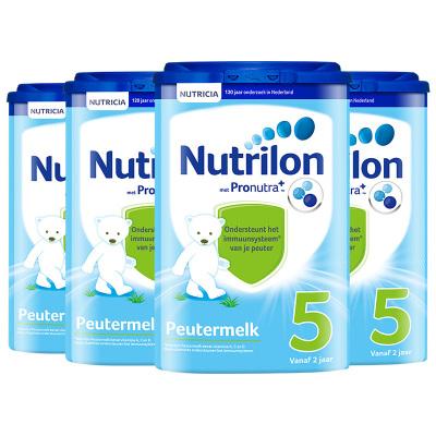 4罐裝|【乳糖配方】荷蘭牛欄 諾優能荷蘭版 Nutrilon海外 兒童配方奶粉易樂罐 5段(2歲以上)800g/罐