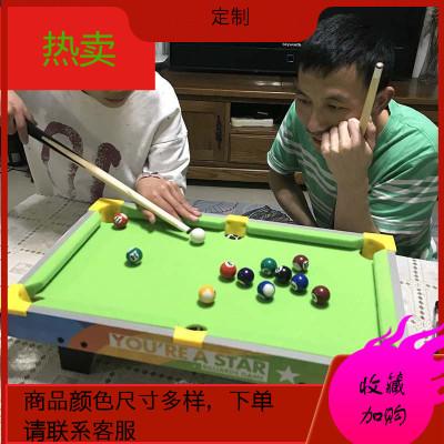 臺球桌面親子游戲6臺球桌玩具家用兒童生日禮物男美式黑8