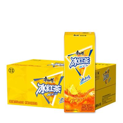 康师傅 冰红茶柠檬味250ml*24包 整箱 柠檬茶饮料 聚餐家庭箱装
