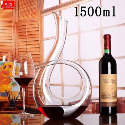 創意6字款 豎琴型水晶 醒酒器 紅酒醒酒器 音符分酒器 【定制】 1500毫升