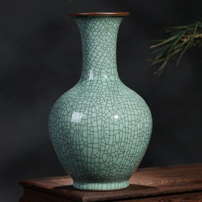 古笙記 景德鎮陶瓷器花瓶擺件客廳插花干花仿古中式家居酒柜裝飾品工藝品