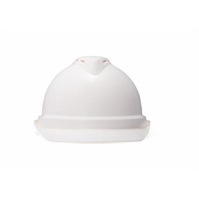 梅思安 V-Gard 10172476 500ABS 豪华型安全帽,超爱戴帽衬针织布吸汗带,D型下颏带,白