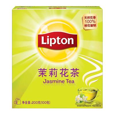 立顿Lipton 茉莉花茶 茶叶 100包200g 酒店 办公室下午茶茶包(新老包装随机发货)