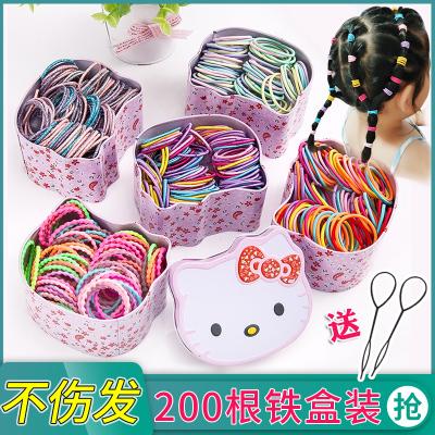 搭啵兔兒童皮筋不傷發女童頭繩韓國寶寶發飾發圈扎頭發橡皮筋小女孩頭飾