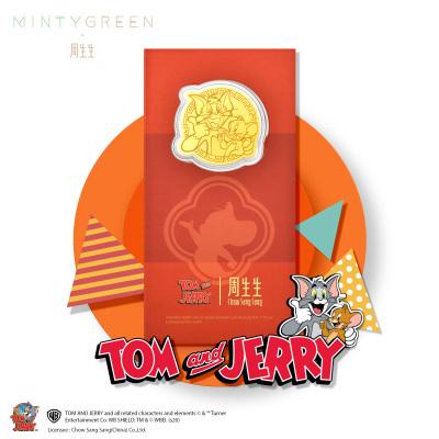 周生生Au999.9黃金Tom Jerry貓和老鼠壓歲錢金片91549D