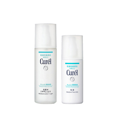 2瓶裝| Curél(Kao花王)珂潤潤浸保濕水乳套裝(化妝I清爽型水150ml+乳液120ml)
