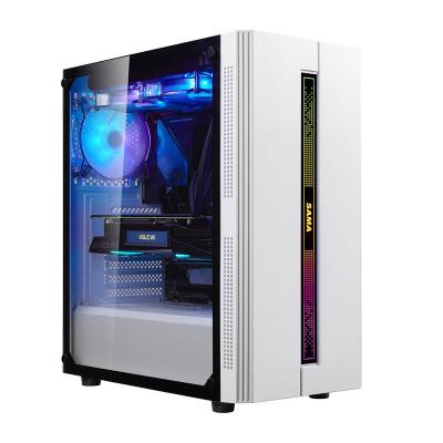 先馬(SAMA) 鋼化玻璃側透 寬大背線 系列機箱 劍魔3 電競版 白(鋼化玻璃側透) 單機箱