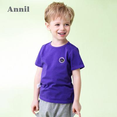 安奈儿童装男童全棉百搭短袖T恤夏装新款
