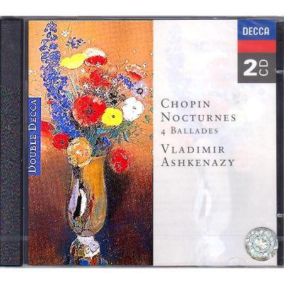 肖邦:夜曲 敘事曲 2CD 阿殊肯納齊 原裝進口CD 4525792 鋼琴曲