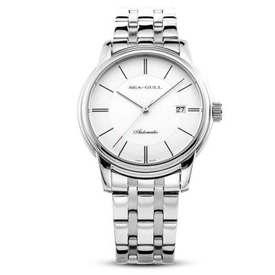 海鷗表(SEAGULL)手表 經典復古單歷 男士商務休閑鋼帶 自動機械表 男表 D816.405