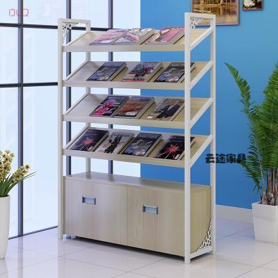 家具放心购图书馆书架办公报刊架杂志架文件展示柜货架资料架家用书柜陈列架新款6012105