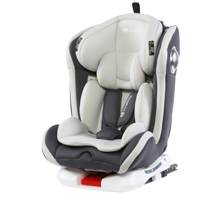 innokids 儿童安全座椅0-4岁-12岁isofix接口可躺婴儿宝宝车载360度旋转汽车用 魔力灰接口版