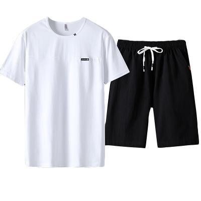 墨爾斯特(MO ER SI TE)2020夏季新款短袖短褲套裝男短袖t恤五分褲韓版休閑運動裝8158