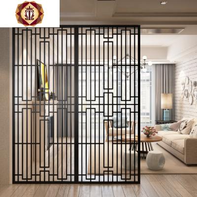 三維工匠北歐簡約鐵藝隔斷客廳玄關鐵藝屏風創意時尚鏤空花窗花可定做