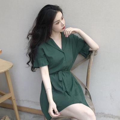 淘小逃法式雪紡連衣裙復古收腰顯瘦氣質短袖2020新款女夏小個子短裙
