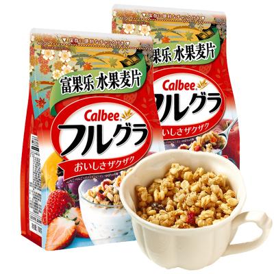 日本卡樂比calbee富果樂水果麥片網紅早餐即食燕麥片700g*2袋