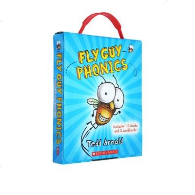 英文原版 Fly Guy Phonics Boxed Set 蒼蠅小子12冊 自然拼讀盒裝 兒童閱讀啟蒙10冊趣味故