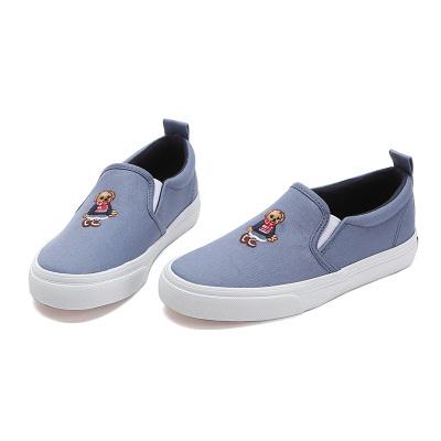 Polo Ralph Lauren嬰童 Polo Bear透氣帆布鞋一腳蹬童鞋