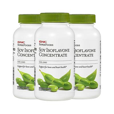健安喜(GNC) 美国进口 浓缩大豆异黄酮软胶囊 50mg 90粒 3瓶装