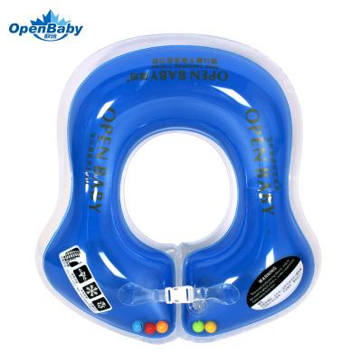 歐培(OPEN BABY)嬰兒游泳圈 兒童游泳救生圈 幼兒腋下圈 藍色L碼