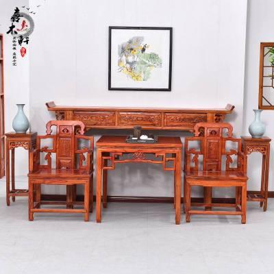 夢引 中堂六件套四件套實木八仙桌中式條案供桌供臺神臺客廳供案家用