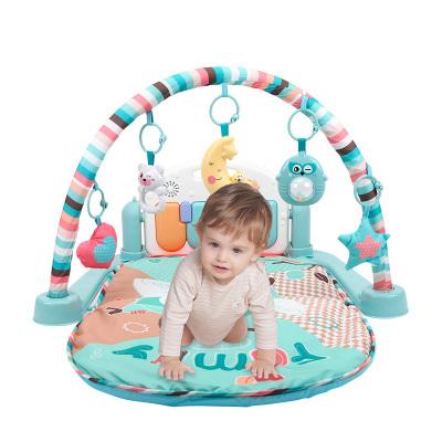 貝恩施 嬰兒玩具 腳踏鋼琴健身架 爬行墊 益智玩具健身架 嬰兒玩具0-1歲 多功能遙控腳踏琴