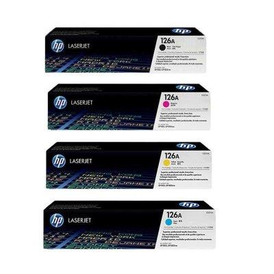 惠普(HP)126A 原裝硒鼓適用于HP 1025 1025nw 四色套裝