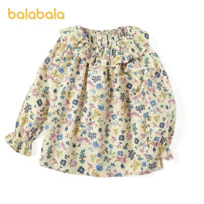 巴拉巴拉童裝女童襯衣秋裝寶寶上衣韓版甜美兒童襯衫文藝碎花洋氣