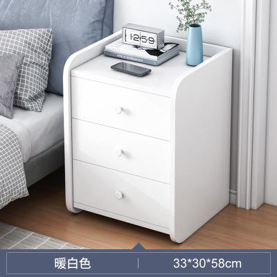 騰煜雅軒 簡約現代人造板式簡易臥室多功能儲物柜迷你小型床邊柜子ins收納柜大抽屜儲物床頭柜