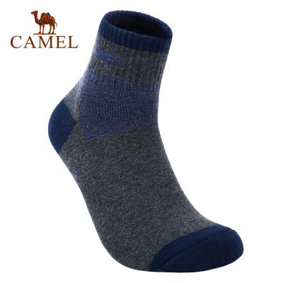CAMEL骆驼户外运动袜 2019新款男款印花骑行野营透气舒适短筒袜