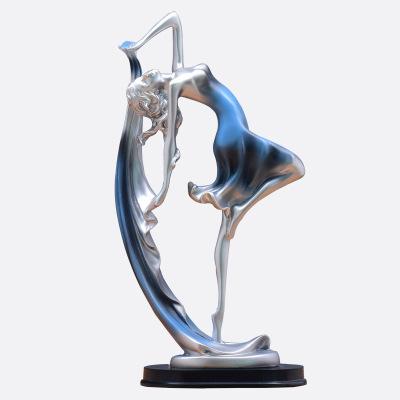 歐式客廳家居裝飾品創意酒柜電視柜抽象工藝擺件塑藝術禮品擺設-功夫小子 樹脂靈動舞者少女