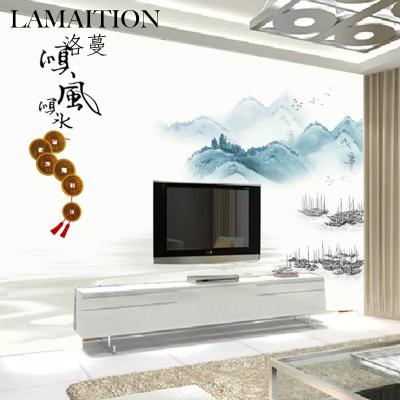 洛蔓壁紙 客廳沙發臥室電視背景墻布壁畫定制 無縫整張 中式順風順水