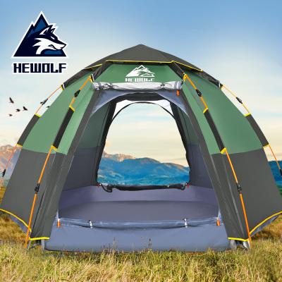 帳篷戶外3-4人全自動防暴雨2人雙人加厚防雨露營裝備野外野營情侶