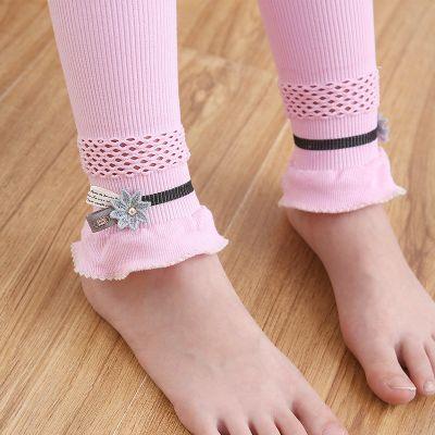 2019女童打底褲春秋款兒童花邊連褲襪蕾絲學生舞蹈襪子白色絲襪童褲薄