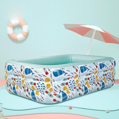 babycare 嬰兒游泳池家用夏季加厚超大號小孩兒童充氣游泳桶寶寶泡澡桶200*150*60cm