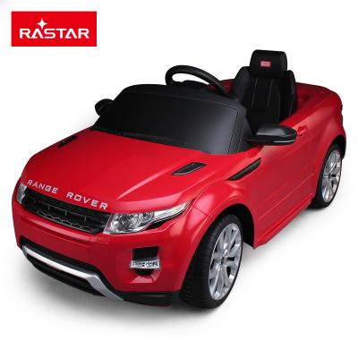 星辉(Rastar)路虎儿童电动车四轮3-6岁宝宝小孩双驱汽车可坐人童车81400红色