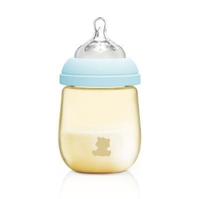 小白熊(XIAOBAIXIONG)初生儿宽口径PPSU奶瓶 婴儿奶瓶防摔耐用天使系列奶瓶 蓝色160ml 09725