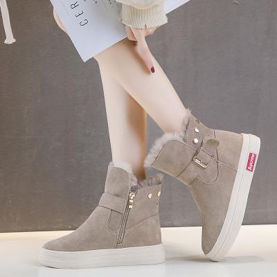 ORCCISEM奥驰森 雪地靴女冬季新款女鞋韩版平底短靴加绒保暖棉鞋女防滑雪地棉女款雪地女靴