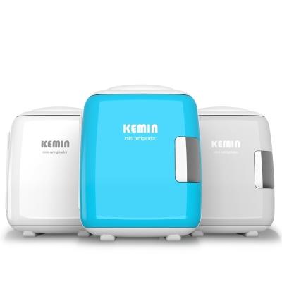 科敏KEMIN汽车车载冰箱4L小型家用化妆品制冷学生寝室宿舍mini面膜 2019款4L静音--粉色(车家二用)