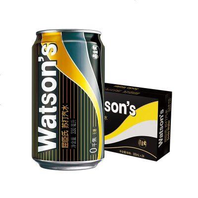 Watsons屈臣氏無糖蘇打水330m*24罐裝 整箱 含汽泡水小蘇打弱堿水