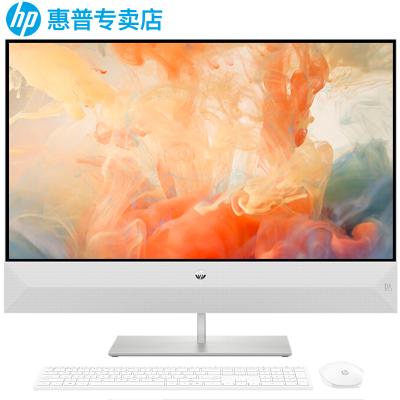 惠普(hp)星27英寸新品高性能一体机台式电脑 i7-9700T 16GB 256G固态+2TB GTX1050 4G独显 蓝牙无线键鼠27-xa0750cn 高色域2K屏台式整机