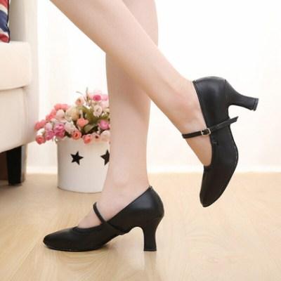 因樂思(YINLESI)摩登舞鞋女華爾茲軟底中3.5cm國標舞鞋Z02